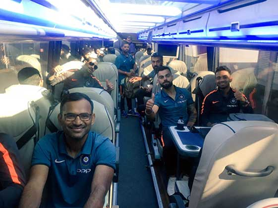 ICC Champions Trophy 2017: Team India Arrive In England