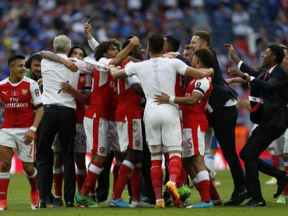 Aaron Ramsey Fires Arsene Wenger To Record Seventh FA Cup