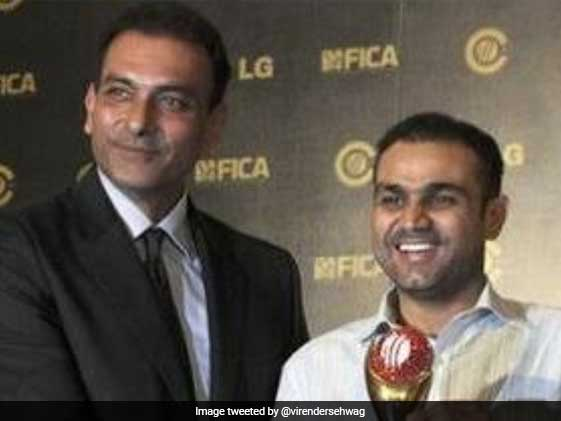 Sehwag Gives Shastri A Taste Of His Own Medicine On Birthday