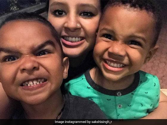Look Away Dhoni! Wife Sakshi Shares Photo Of Her 'Two Boys'