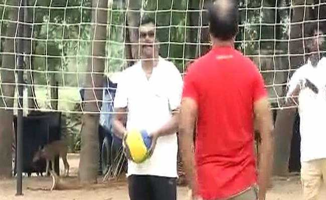 In Break From Politics, AIADMK Lawmakers Enjoy Swings And Volleyball