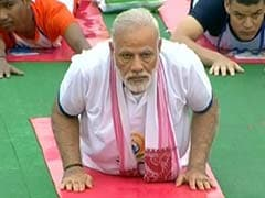 PM Narendra Modi Does Yoga In Rain, Thousands Join Him: 10 Points